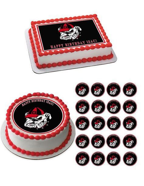 25  best ideas about Georgia bulldogs cake on Pinterest