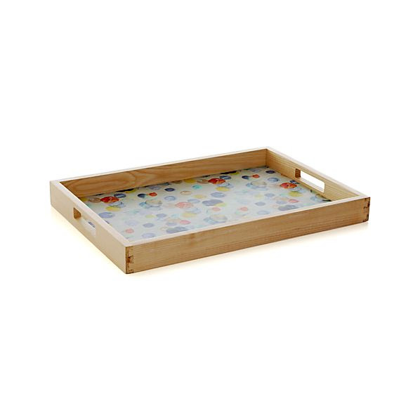 Polka Dot Serving Tray | Crate & Barrel
