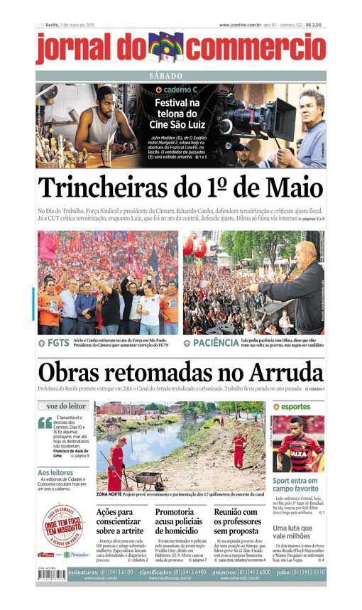 Capa do Jornal - 02/05/2015