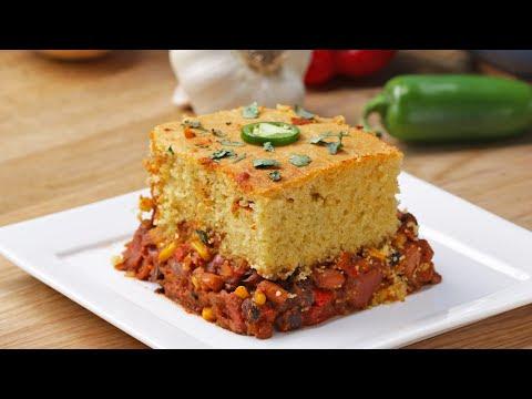 Vegetarian Chili Magic in Bread Recipe   Healthy Recipes