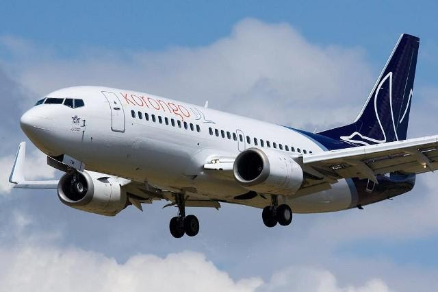 Korongo's sole 737-300 OO-LFM