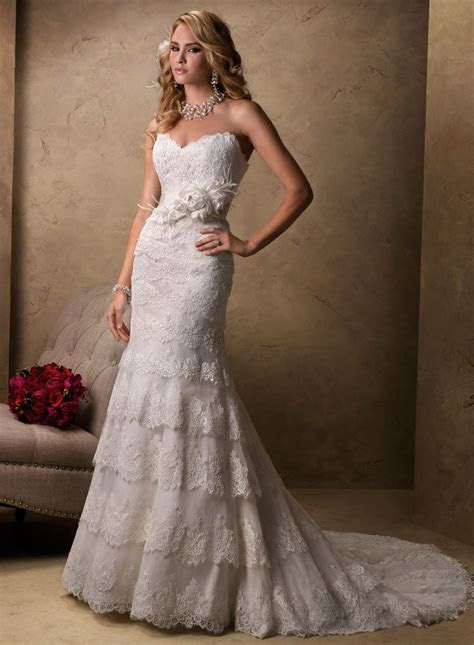 Maggie Sottero Wedding Dresses   Romantic, Feathers and Lace