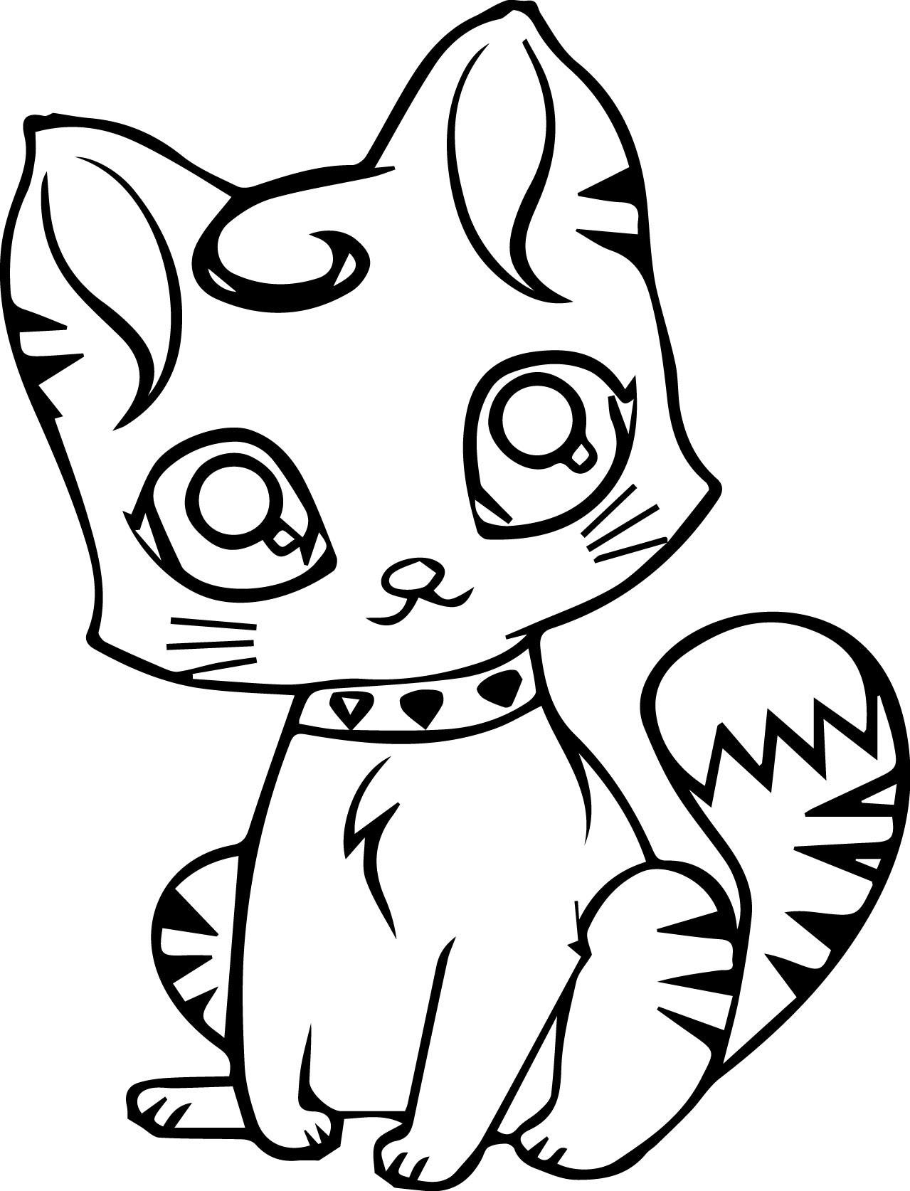 Cat Coloring Pages at GetColorings.com | Free printable ...