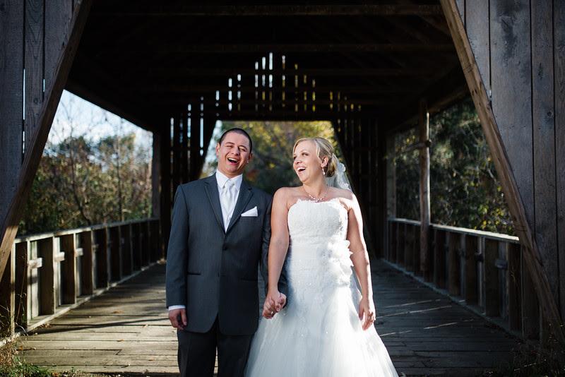 Portraits of the Bride and Groom at Williams Tree Farm in Rockton IL.