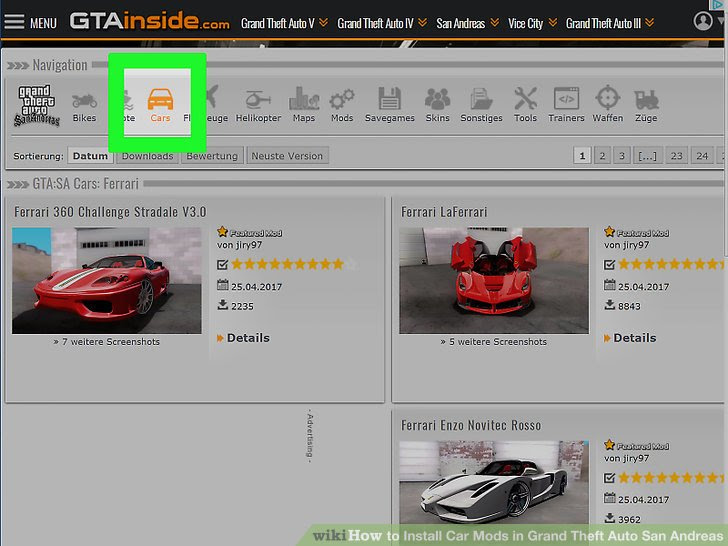 How To Install Car Mods In Grand Theft Auto San Andreas