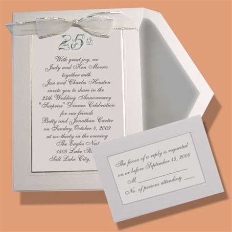 Embossed Wedding Anniversary Invitations (Item #BE23306