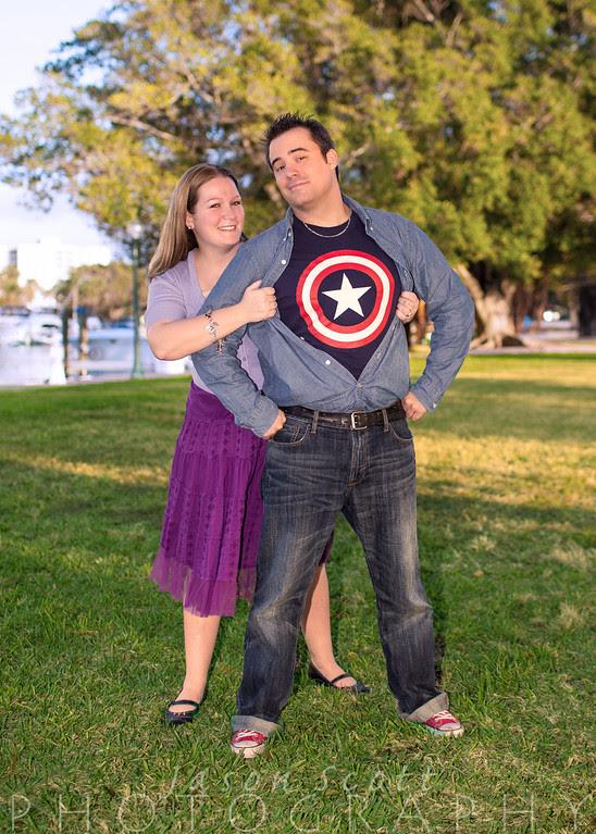 Kara and Chris at Bay Front Park, January 2013