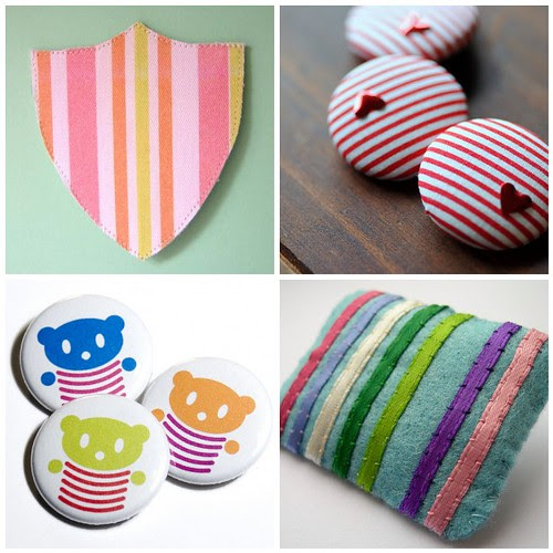 button and brooch stripes