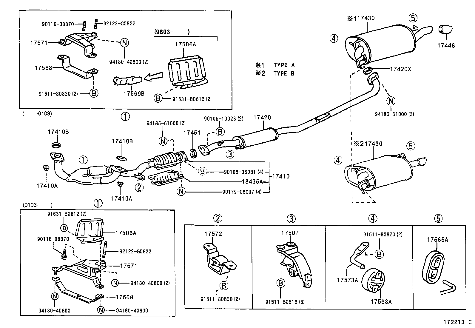 2000 Toyota Camry Exhaust System Diagram