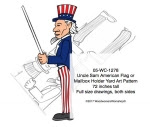 Uncle Sam Flag holder or Mailbox Holder Yard Art Woodworking Pattern - fee plans from WoodworkersWorkshop® Online Store - Uncle Sam,flag holders,mailbox posts,yard art,painting wood crafts,scrollsawing patterns,drawings,plywood,plywoodworking plans,woodworkers projects,workshop blueprints