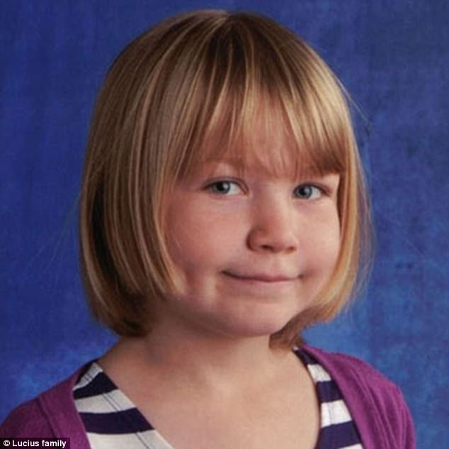Laura Coward, 50, who murdered her daughter, nine-year-old Amber Lucius (pictured), has been sentenced to life in prison with no chance of parole for 18 years