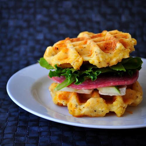 Cheddar Polenta Sandwich