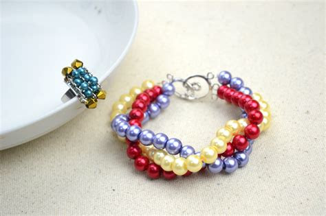 handmade beaded jewelry designs simple pearl bracelet