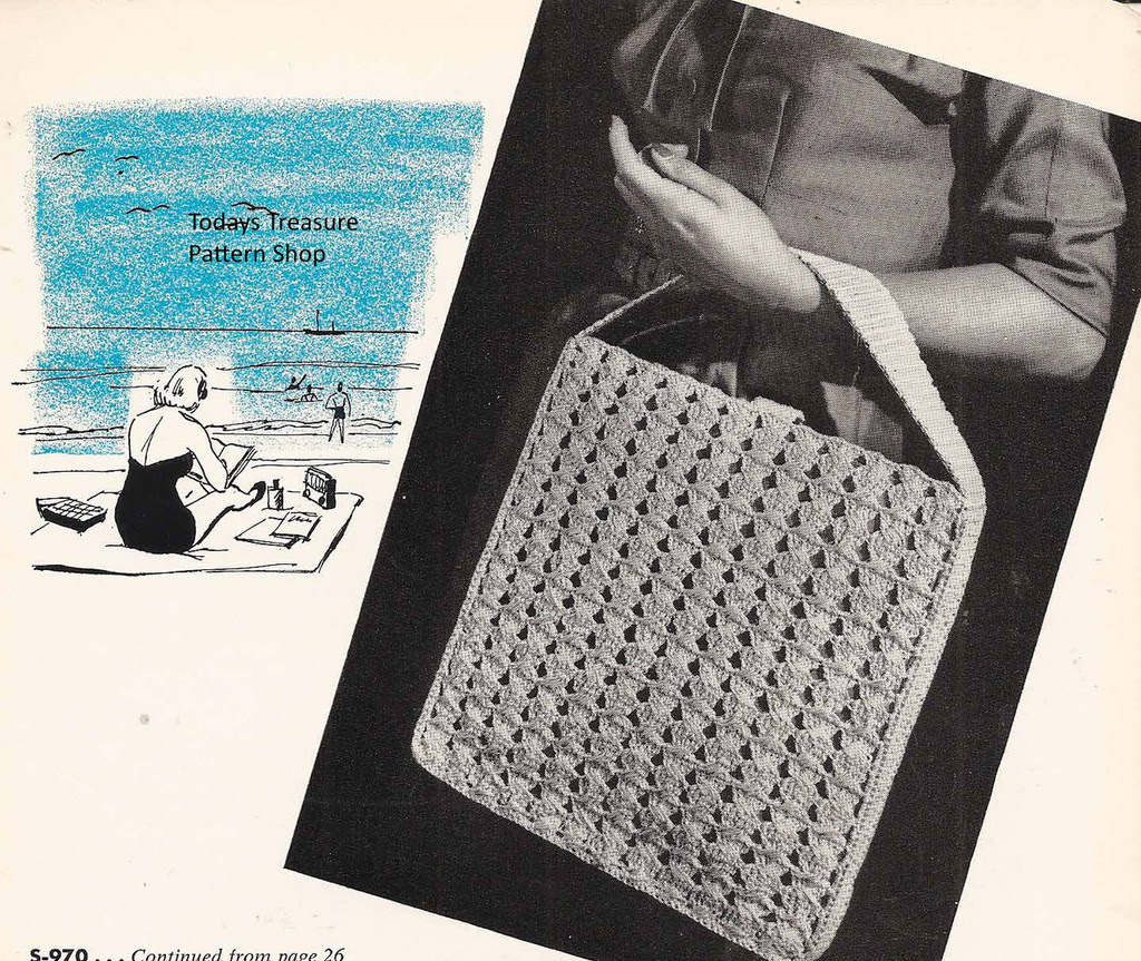 Vintage Crocheted Utility Bag Pattern