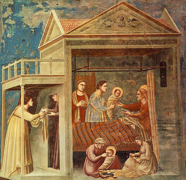 Archivo:Giotto - Scrovegni - -07- - The Birth of the Virgin.jpg