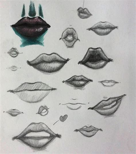 drawings  lips mouths teeth