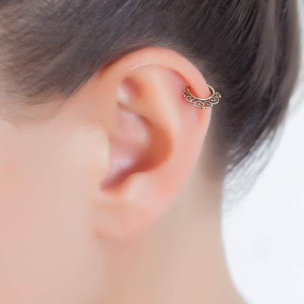 Tribal Helix Earring Cartilage Hoop Umanative Design