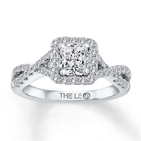 Kay   Leo Engagement Ring 1 1/4 ct tw Diamonds 14K White Gold