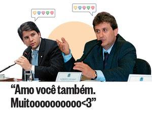 <3<3<3<3<3 O correio elegante entre o deputado Luiz Argôlo (à esq.) e o doleiro Alberto Youssef (Foto: Nison Bastin/AG Camara e Carlos Moura/CB/D.A Press)