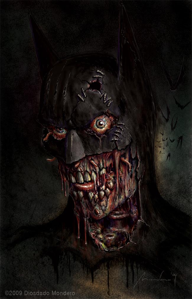 Zombie Batman by Awtew