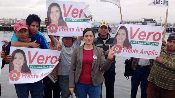 Verónika Mendoza, candidata presidencial de Frente Amplio