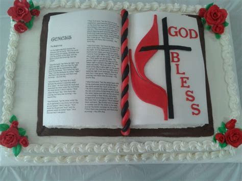 Open Bible Cake   Open Bible cake for our outgoing pastor