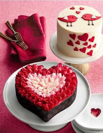 افكار لكعكات عيد الحب (1)