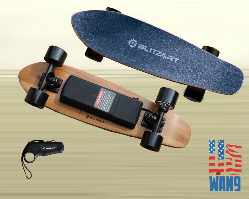 28\u0026quot; Black Electric Motorized Remote Skateboard Lithiumion Battery Skate board  eBay