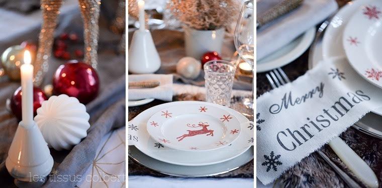 LES TISSUS COLBERTWeihnachtsdeko Weihnachtstisch_751