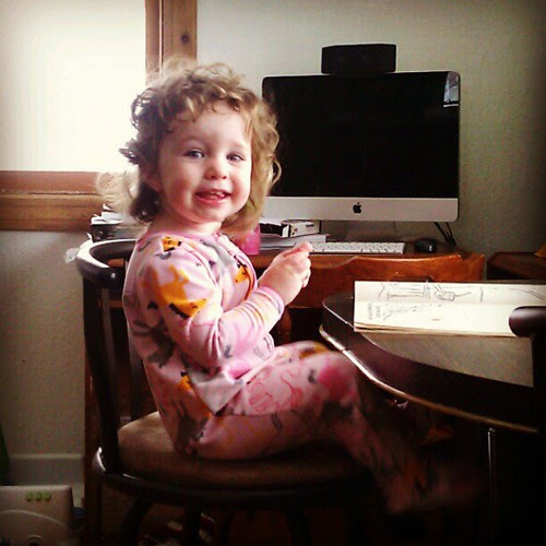 So happy coloring and watching the snow out the window! #whendidshegetsobig?