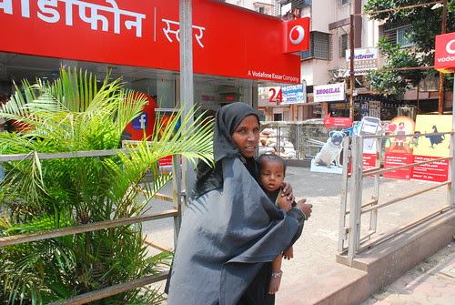 The Muslim Beggar Lady And Her Child.. The Azad Maidan Prostest Was Not For Her Or Her Kind by firoze shakir photographerno1