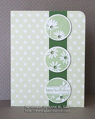 WSW12 Let's Dance - Polka Dot Birthday Card