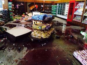 Criminosos explodem três caixas eletrônicos em Roseira, SP  (Foto: Divulgação/ PM)