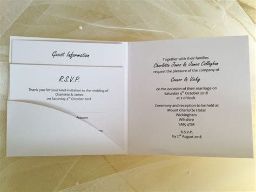 Pocketfold Wedding Invitations. Affordable Pocketfold