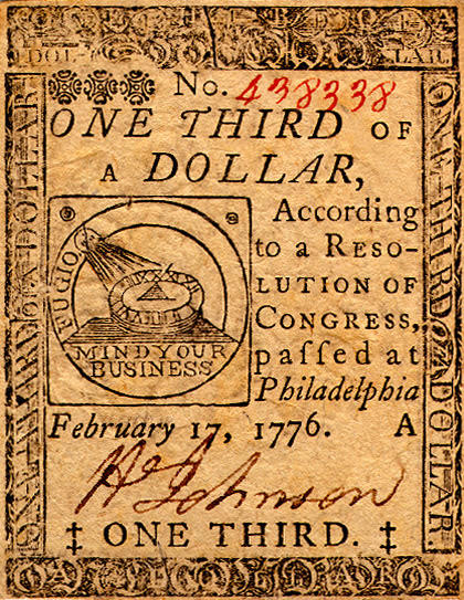Continental 1/3 dollar