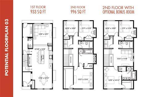 infill floor plans google search smallnarrow plot