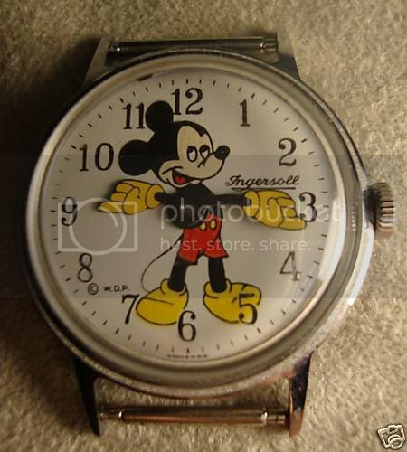 Mickey Mouse Watch Value >> Ingersoll Mickey Mouse