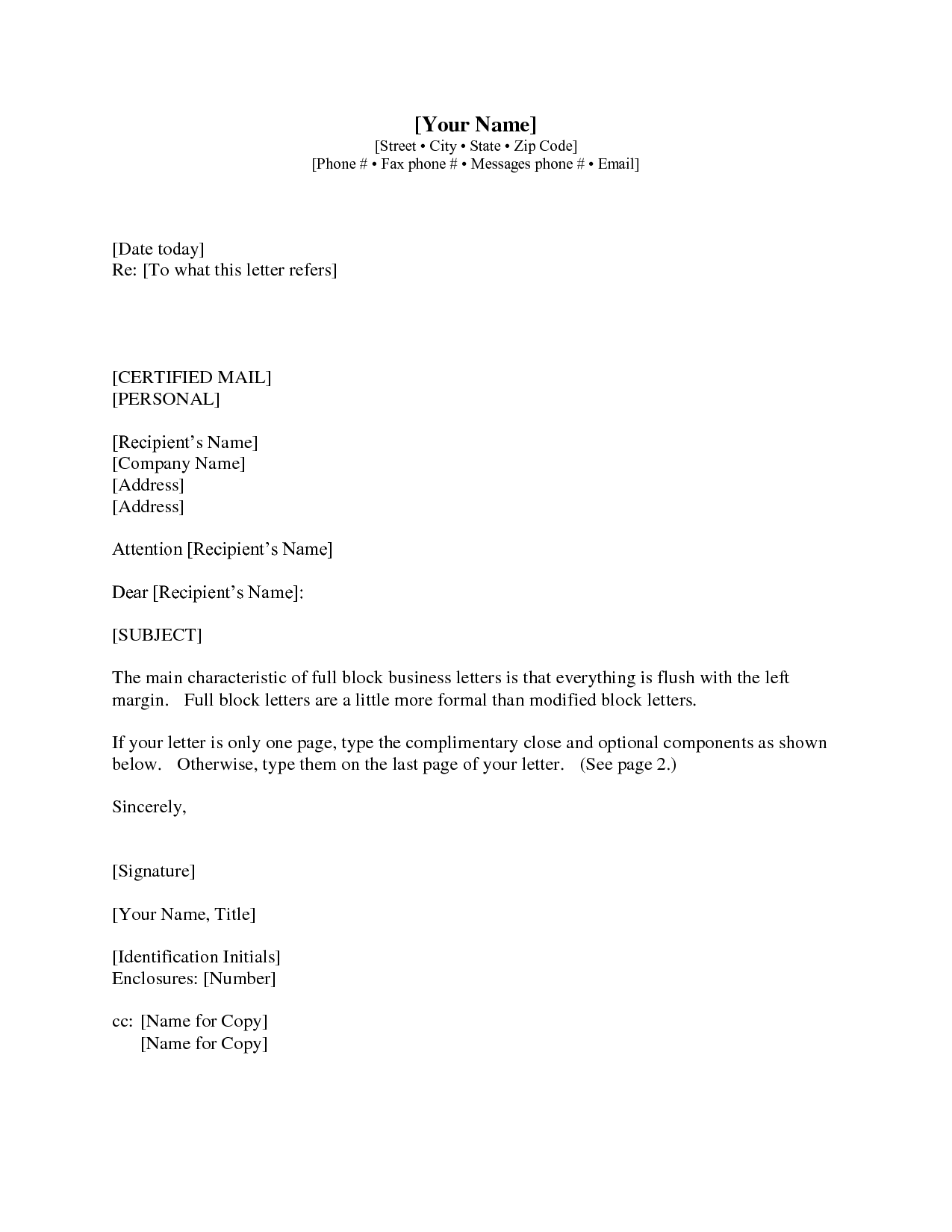 Cover Letter Enclosure Meaning Letter