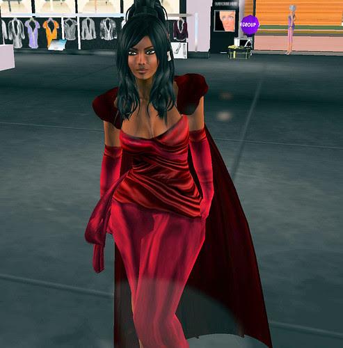 Mimi's Choice Sf design te amo Gown red