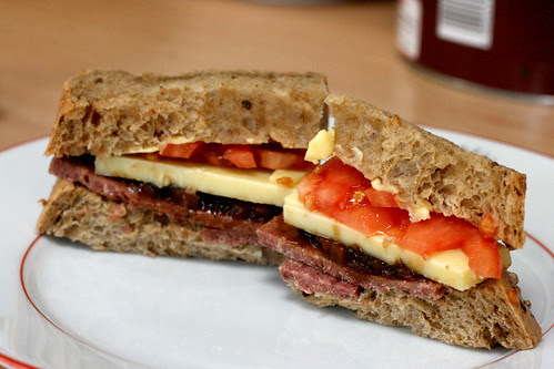 Corned beef cheese and pickle