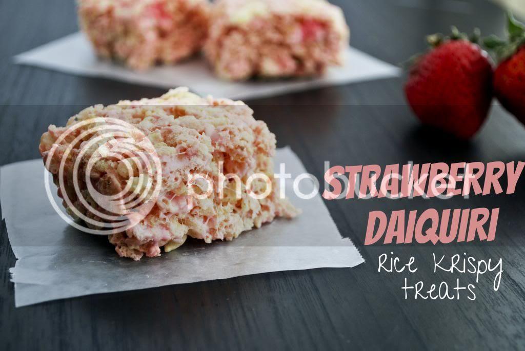 Mallow and Co: Strawberry Daiquiri Rice Krispy Treats