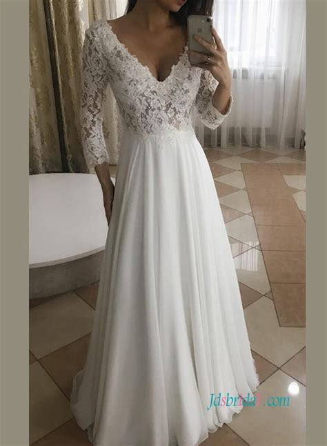 Long sleeve Bridal Gowns,cheap lace wedding dresses with