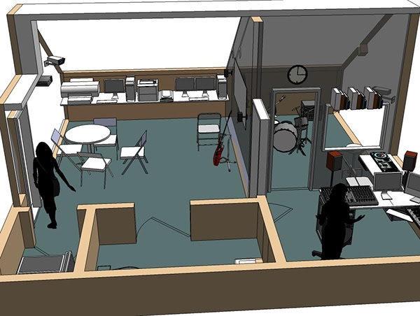 Designing a Recording Studio for academic use. on Behance