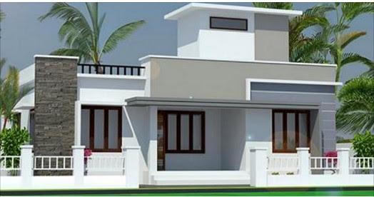850 Square Feet Single Floor Modern Home Design Below 9 Lacs Acha