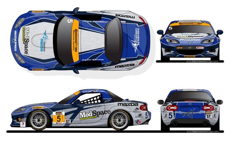 Livery: CJ Wilson Racing Mazda MX-5 Livery - Andy ...