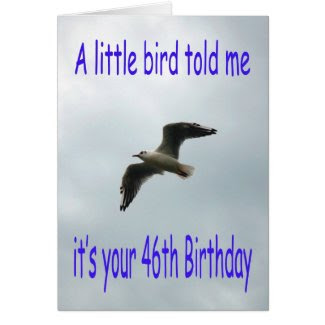 Happy 46th Birthday Flying Seagull bird Cards