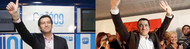 Rajoy resucita en Galicia y Zapatero entierra a Ibarretxe