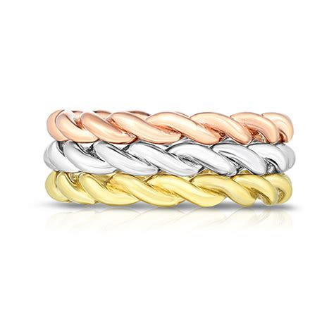 The Dragon Twist Wedding Bands   Marisa Perry by Douglas