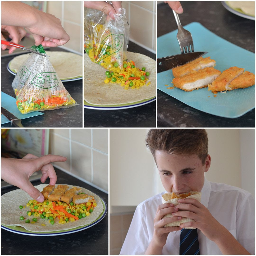 #Afterschoolchefs : Chicken & Rice Wrap