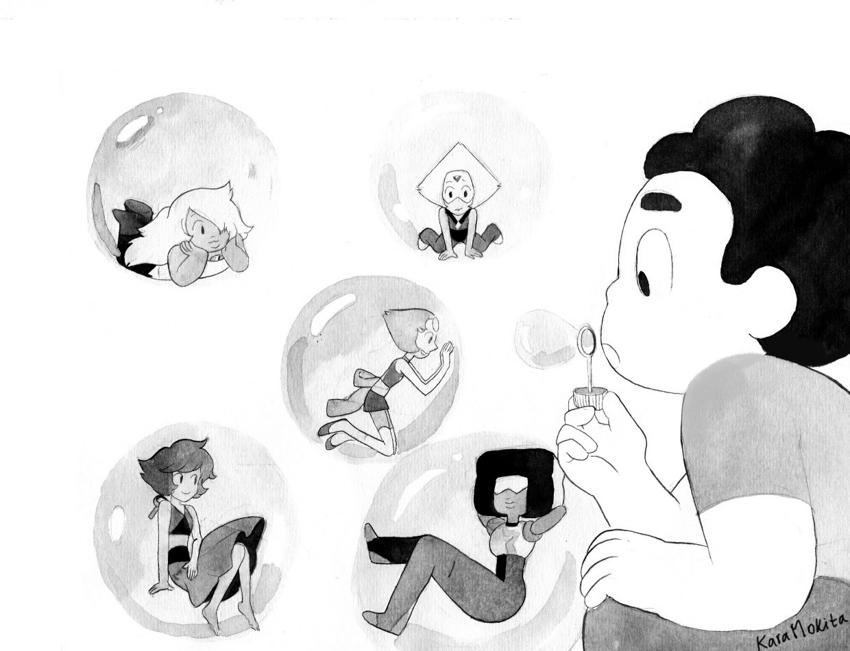 Some Steven Universe drawings from last year